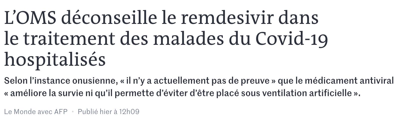 Le Monde Covid 19